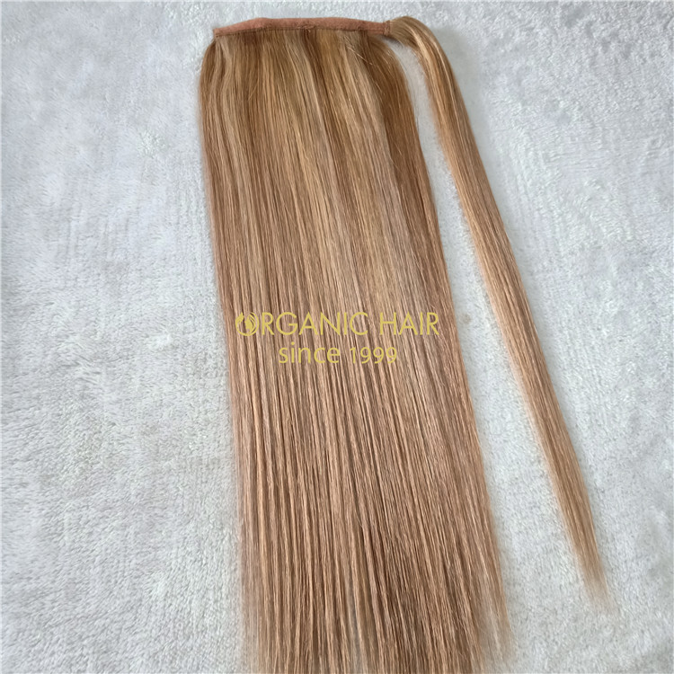 Piano color human hair ponytail extensions on sale X144