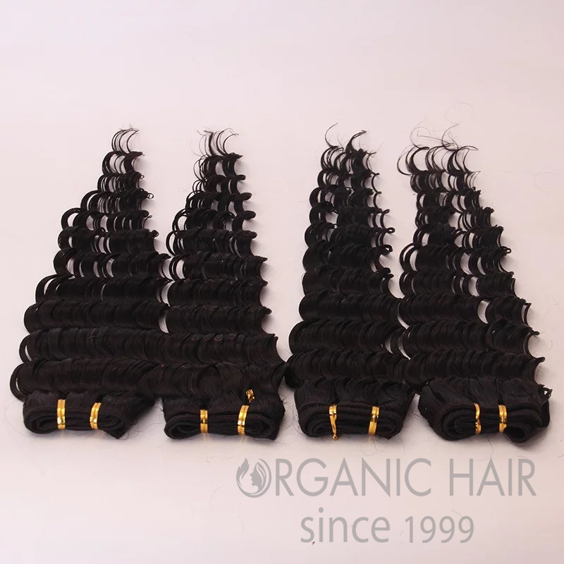 Hot sale colored curly human hair extensions !!!