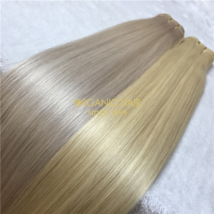 Human weft hair extensions #60color VS #60A X111
