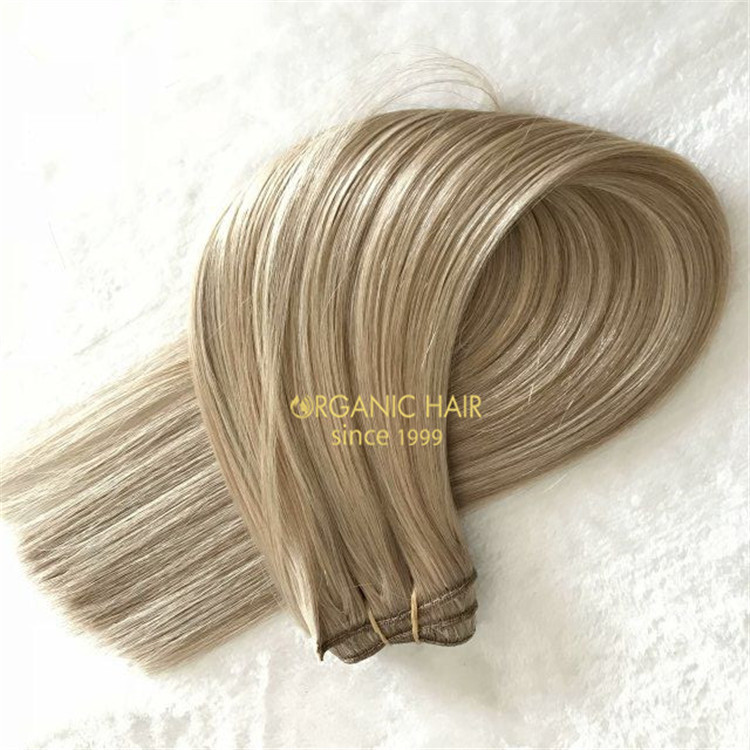Customized 200 grams very double drawn virgin human  weft A93