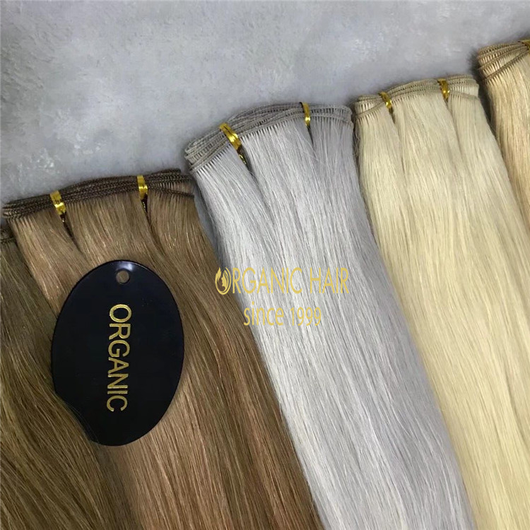Best hand tied wefts in Qingdao-made with full cuticle Chinese hair A186