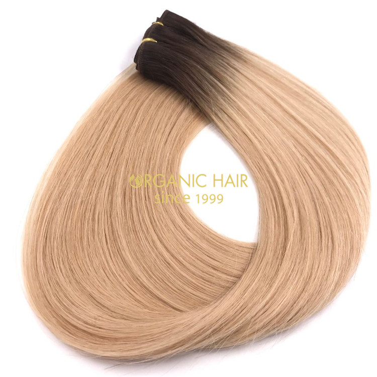 Rooted color human machine wefts and hot sale X242