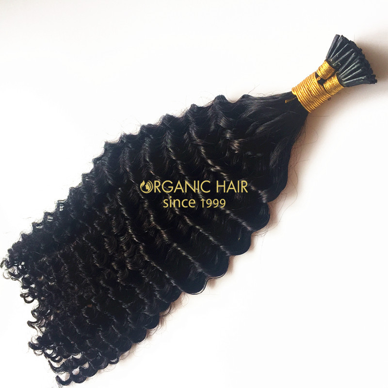 Organic hair extensions i tip hair extensions remy curly hair