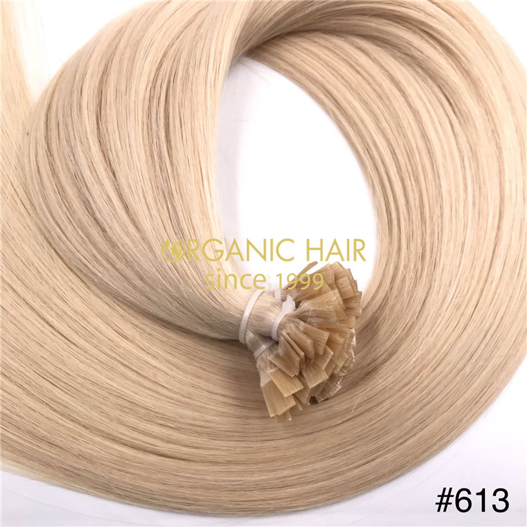 Wholesale human keratin flat tip #613 color and good reviews X351