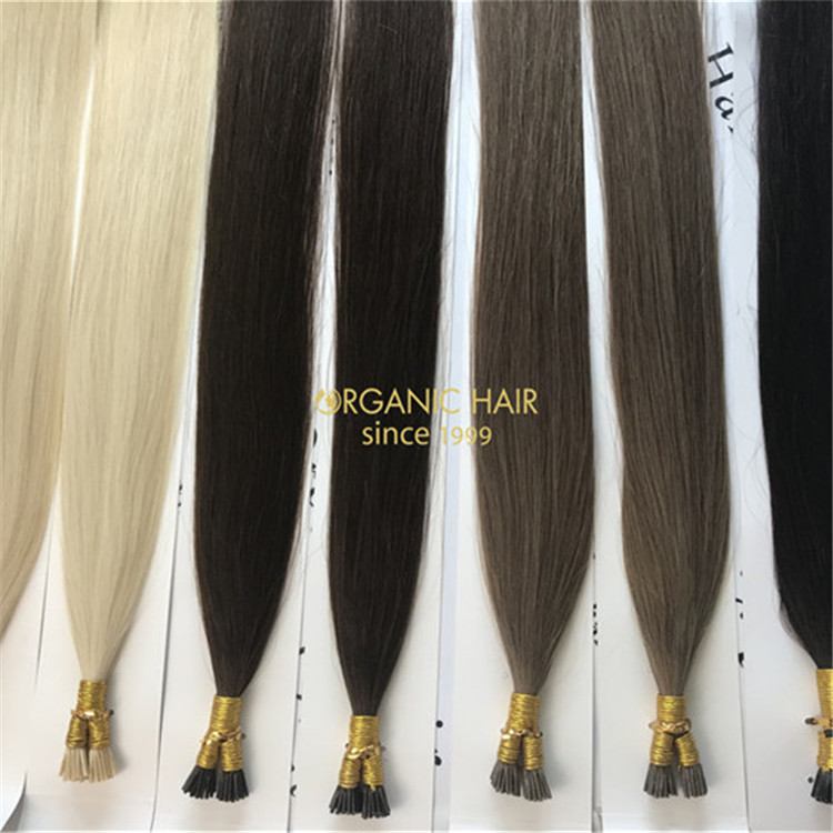 Hot human keratin itip hair extensions and customized color X294