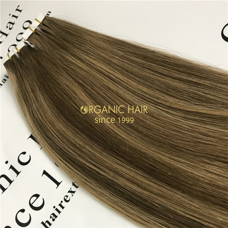 Wholesale tape in hair extensions piano color X318