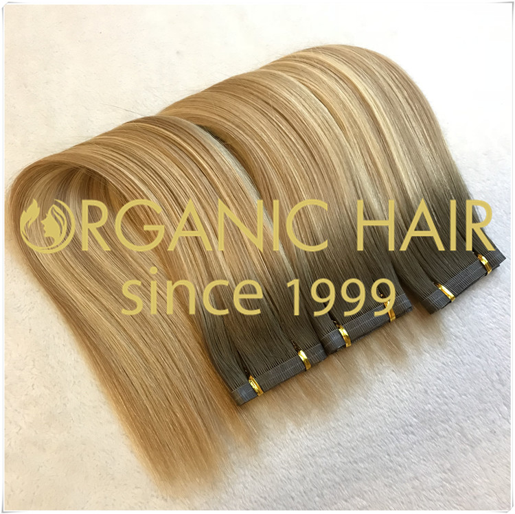 Hybrid weft seamless weft flat weft hair extensions CNY021