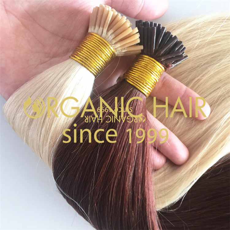 Colorful 100% full cuticle intact  i tip hair extension A69