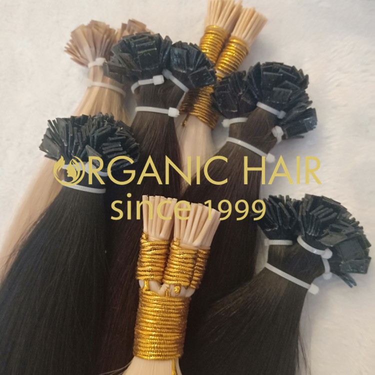 100% human remy hair:keratin bond,mixed color H125