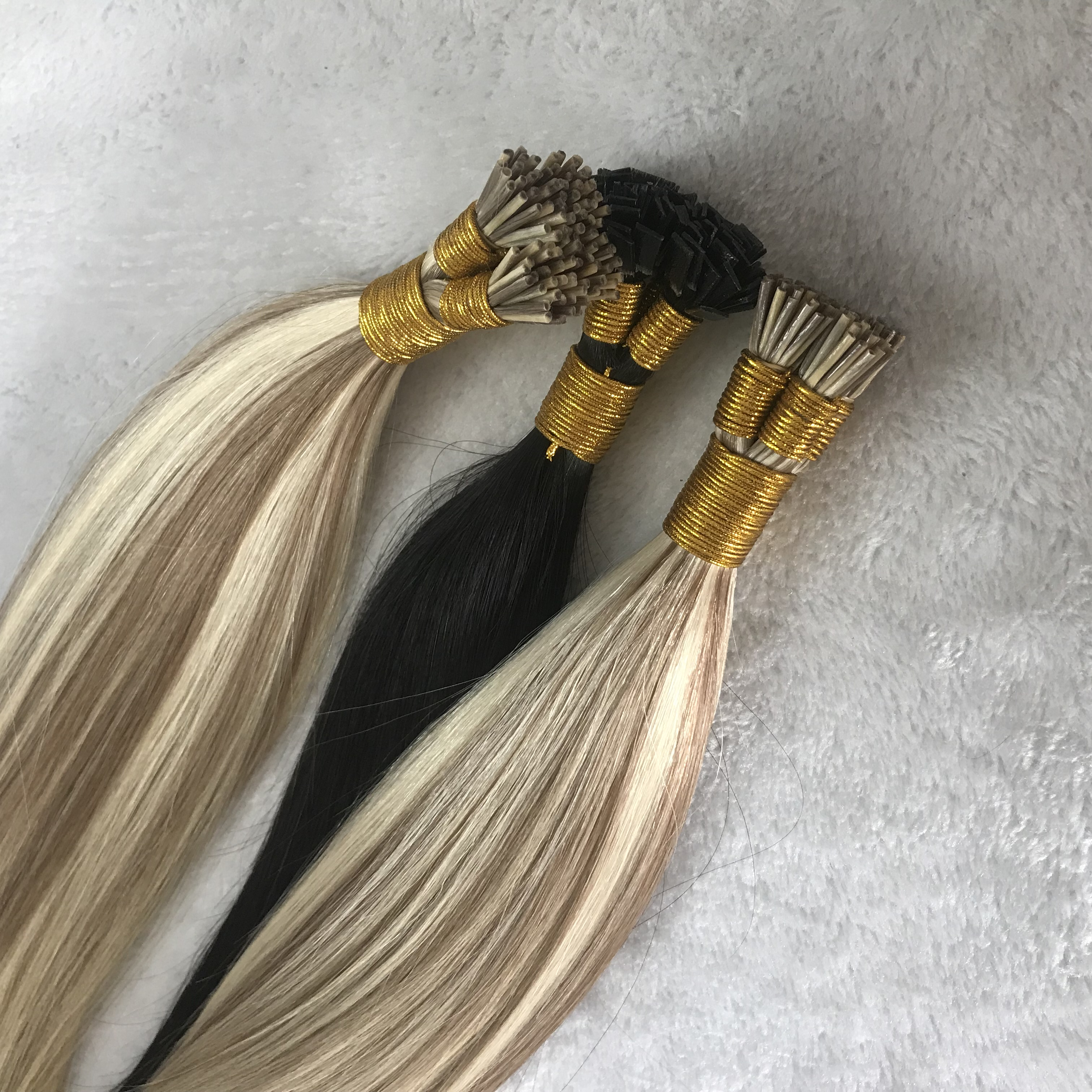 Customized piano color i tip hair extensions H130