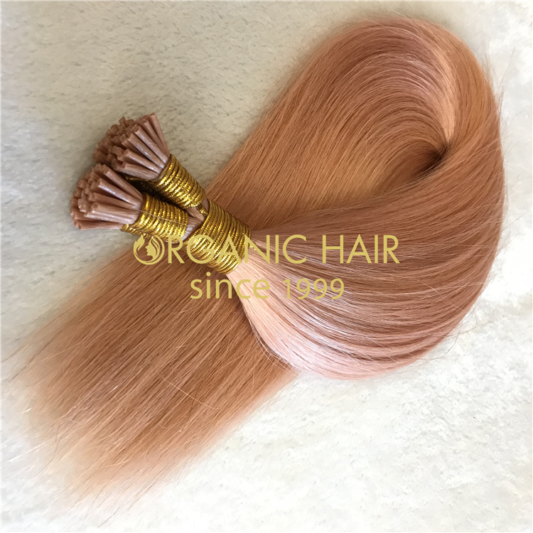 Wholesale various colors real remy human I tip hair V51