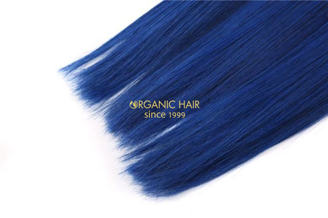 Colored hair extensions blue hair extensions china oem colored colored hair extensions blue hair extensions pmusecretfo Gallery