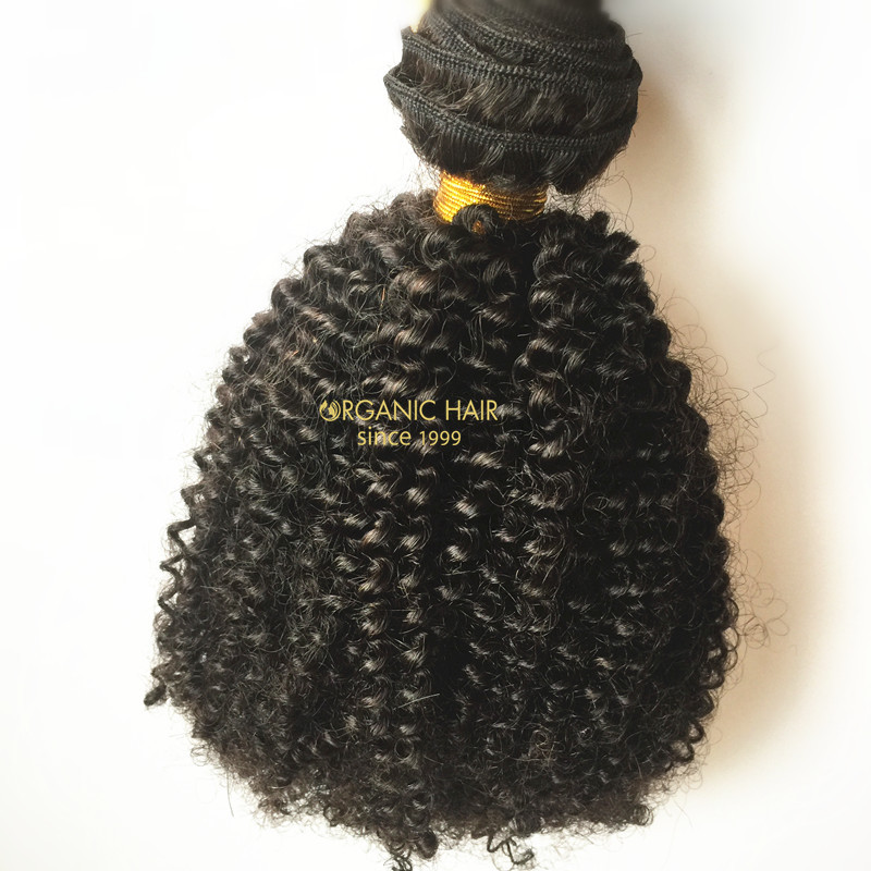 Indian curly remy human hair extensions