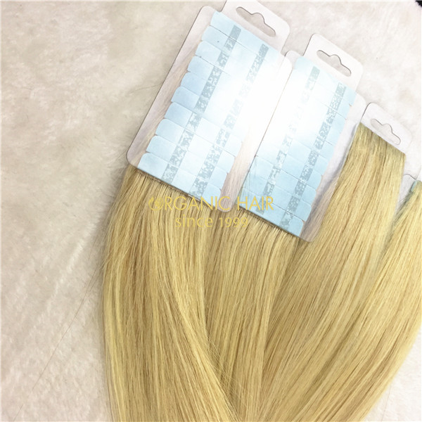 Full cuticle invisible weft skin weft tape in hair extensions