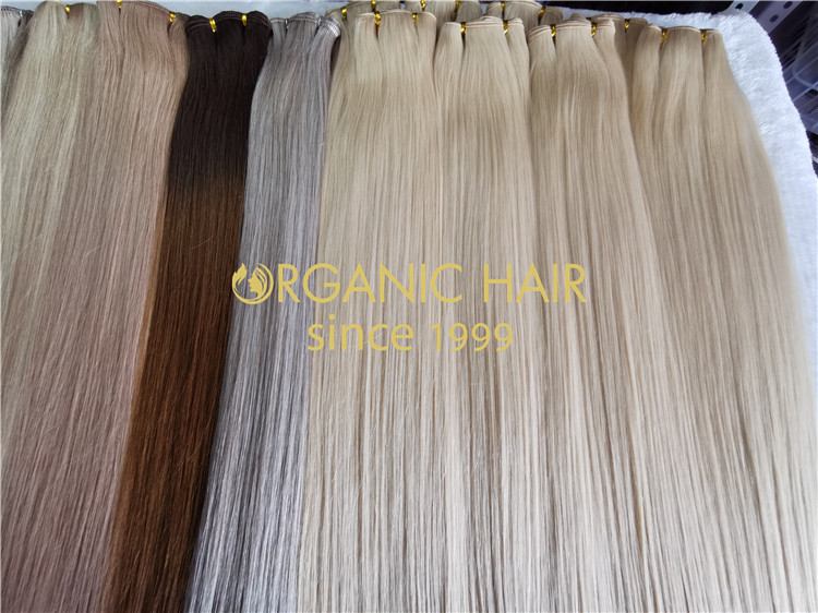 Super double drawn invisible hair extension wefts RB73