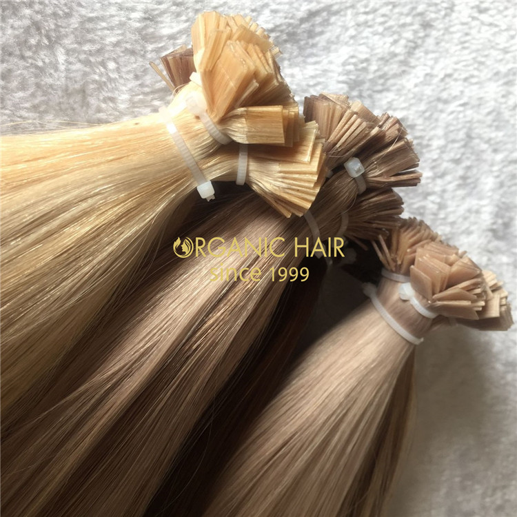 Keratin human full cuticle flat tip hair extensions X182