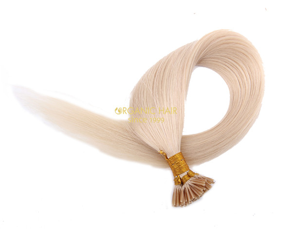 European hair pre bonded hair extension keratin hair extensions #60