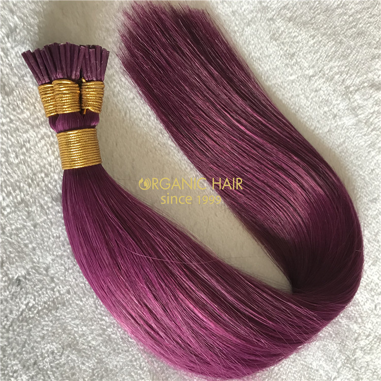 Human customized keratin itip hair extensions X194