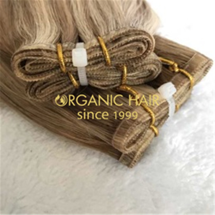 Full cuticle lace flat wefts hair extensions H178