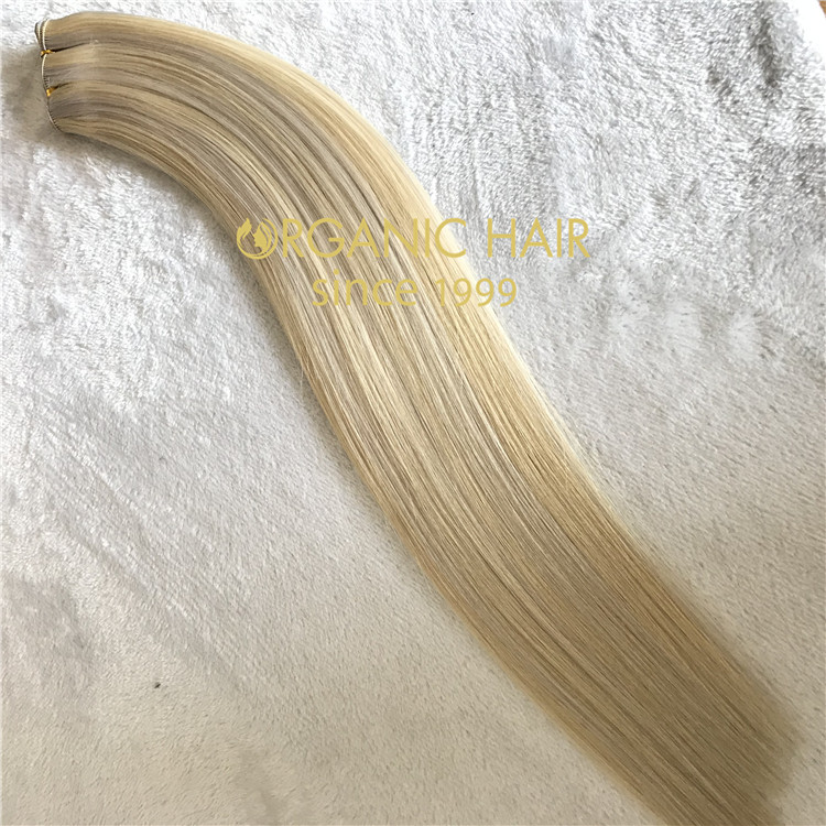 Long colored hair extensions handtied weft C64