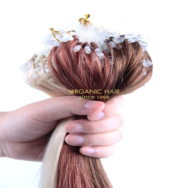 Micro ring loop hair extension 100 remy hair from Qingdao, China GT07