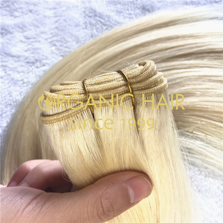 Virgin remy hair machine weft on sale A05