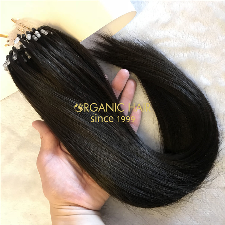 Micro loop hair extensions 150gram #1B color X61