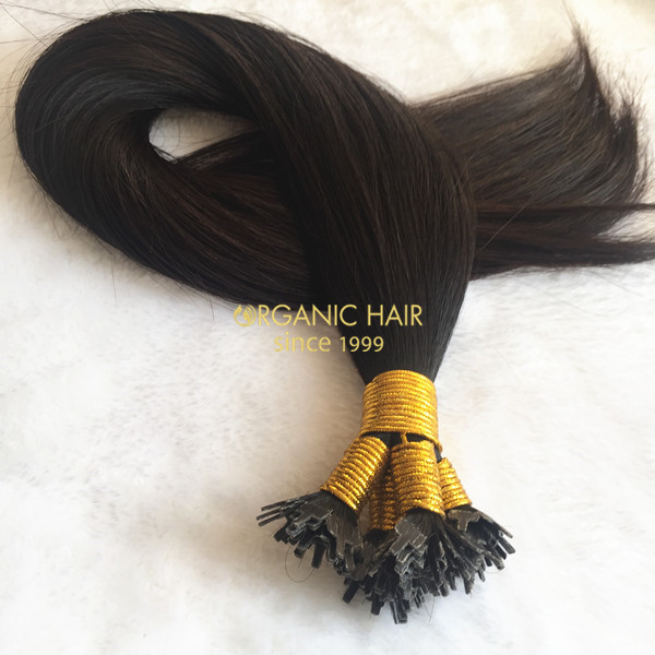 Organic flat tip hair extensions mini locks hair extensions wholesale