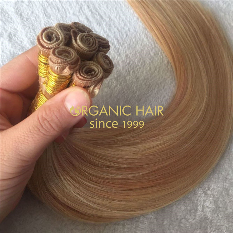 Russian human mix color hand-tied weft wholesale in China A153
