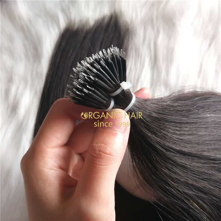22inch #1 nano tip human hair for uk market A197