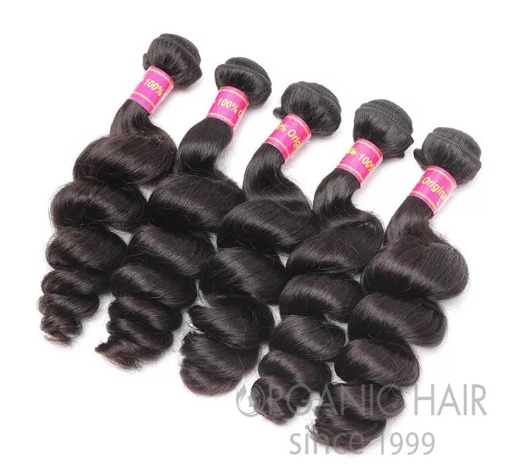 natural hair extension virgin remy hair weft
