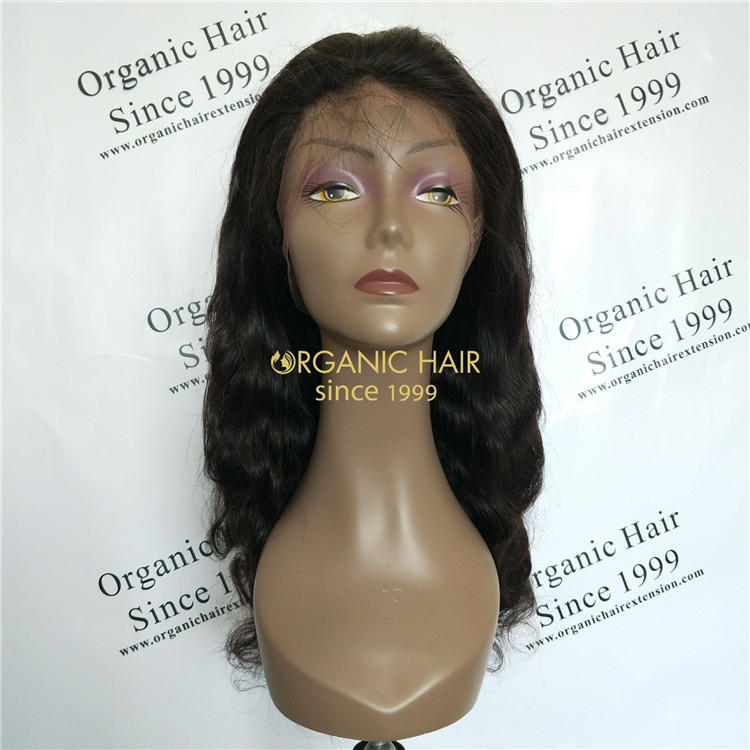 Lace front wigs body wig natural color 180 density GT49