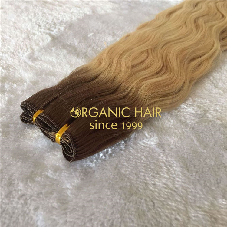 Wholesale human hair extensions--hand tied weft C37