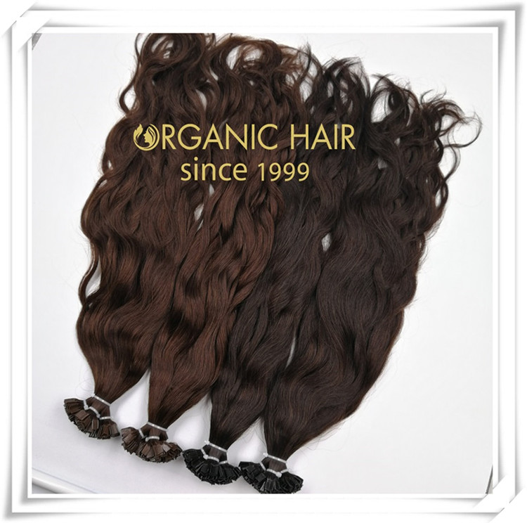 Natural wave V tip hair extension C078