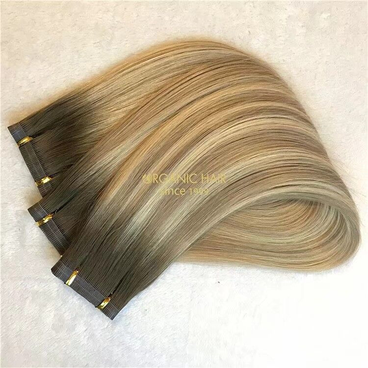 A new trend-New hybrid weft with best raw hair A114
