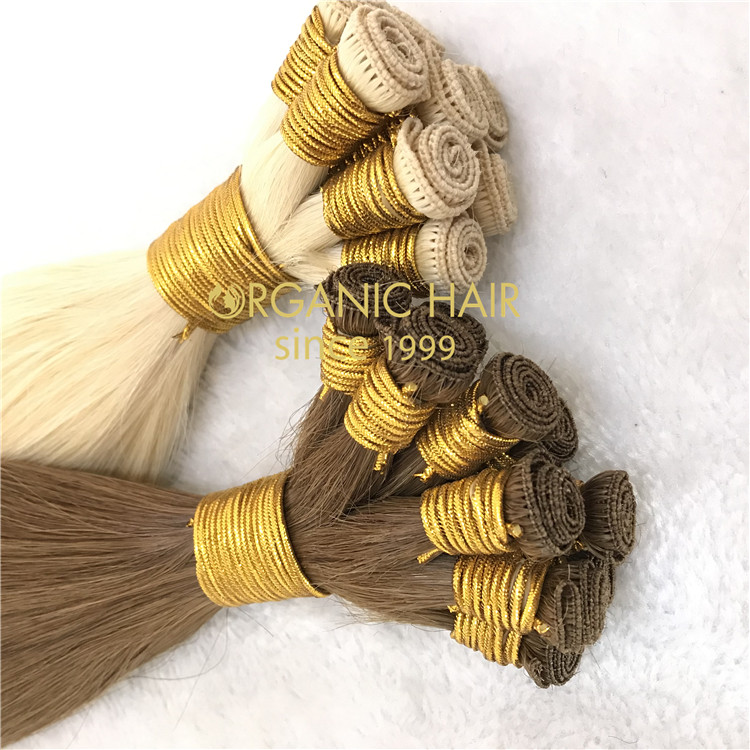 No silicone,the best quality hand tied wefts with wholesale price A176