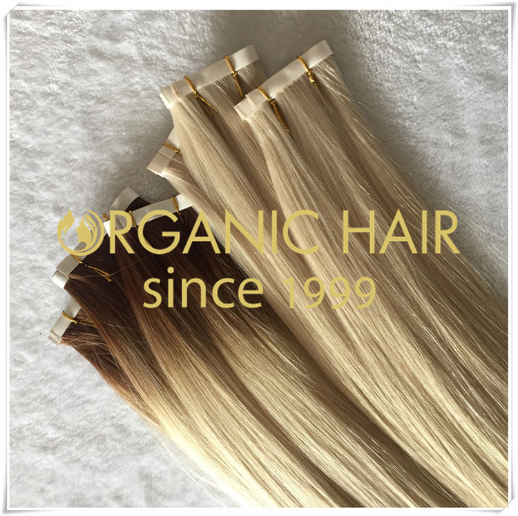 Ombre color pu skin weft popular extensions CNY040