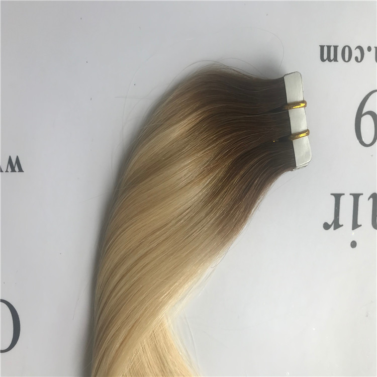 Ombre color hair tape in hair extensions H72