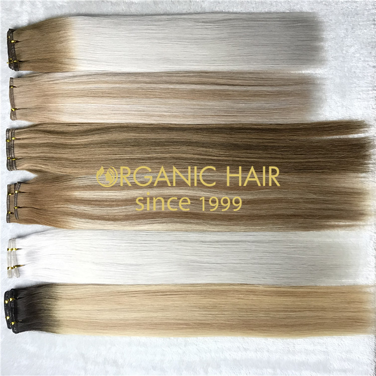 Ombre hybrid wefts hair extensions H165