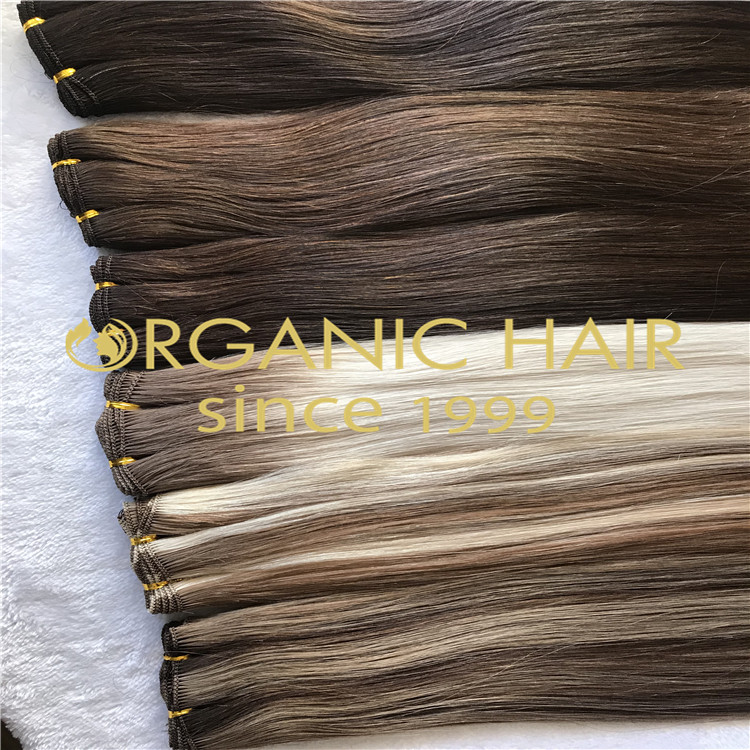 Cuticle intact hair-hand tied hair extensions H145