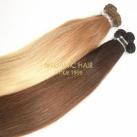Hand tied weft hair styles weave hair