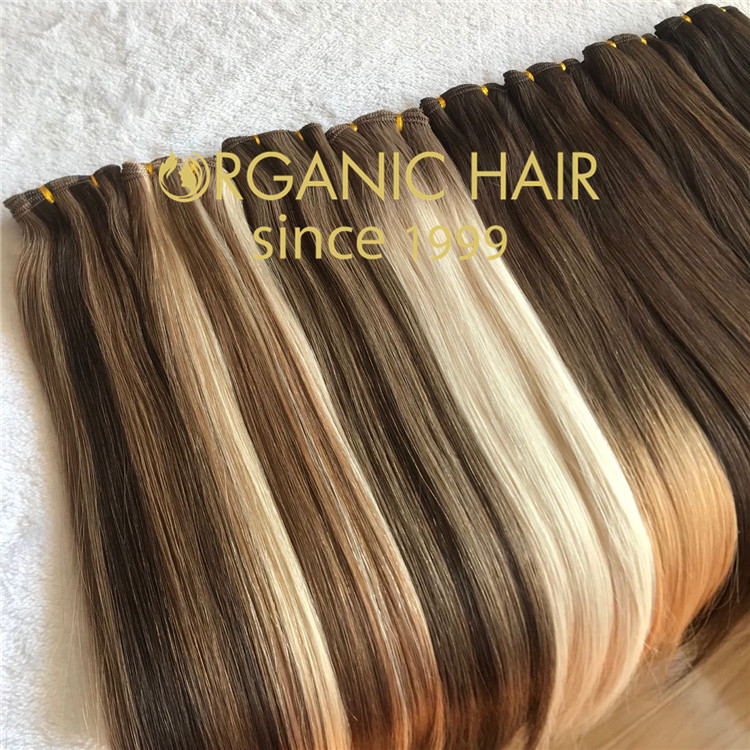 Best factory russian remy hair 100% human handtied weft J16