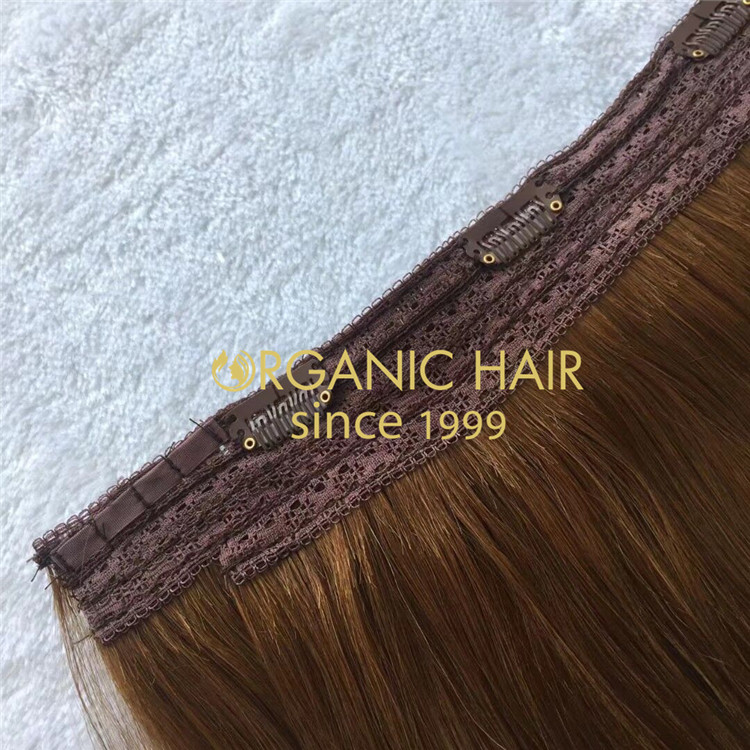Dark brown one piece clip in hair extensions with cheap wholesale price A214
