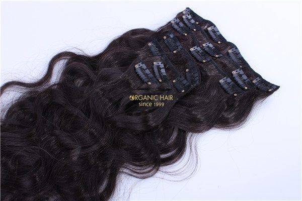 factory ywholesale clip in hair extensions cheap human hair