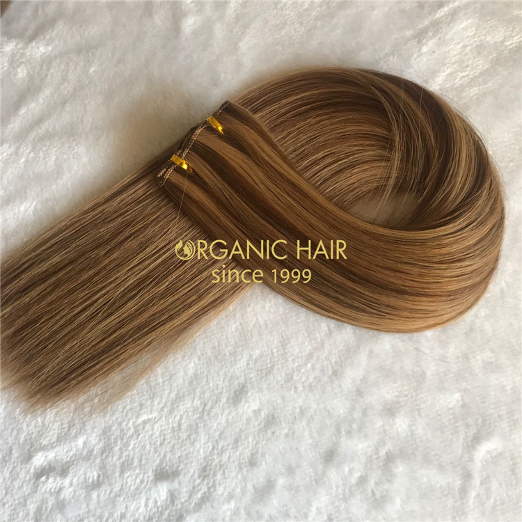 Customized piano#4/8 full cuticle hand tied wefts with affordable price A164