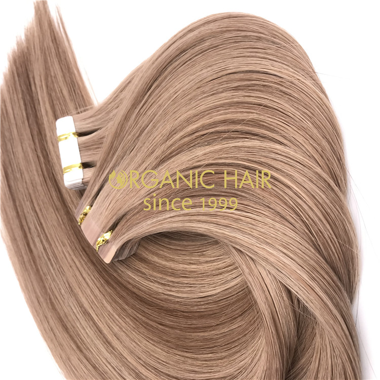 Hot sale piano color #10/16 tape in hair extensions wholesale X296