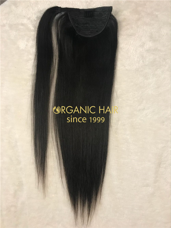 Wholesale human hair ponytail extension X14