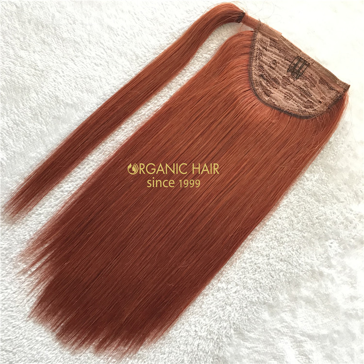 Human remy #350 color ponytail hair extensions on sale X146