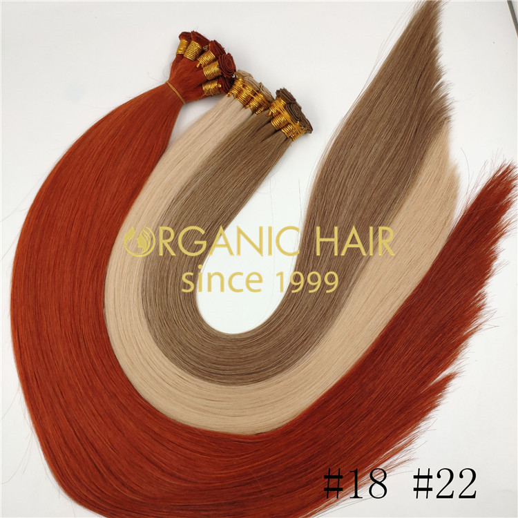 Popular color high quality handtied weft wholesale J06