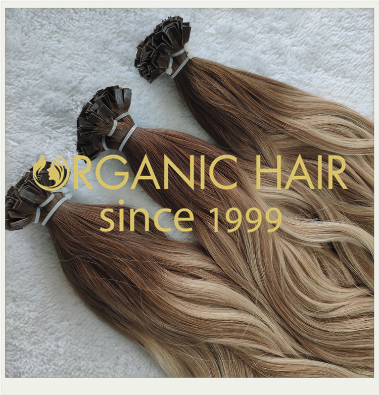 Pre bonded flat tip full cuticle hair extensions CNY006